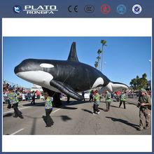 Pvc de gran desfile de promoción inflable gigante de pescado, pez volador inflable