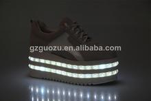 female fashion led high thick sole shoe