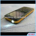 teléfono móvil con la luz del flash, mobile phone with flash light
