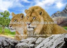 venta caliente de alta calidad 3d imágenes de león