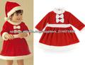 Helper Niños Disfraz Pequeña Srta. Santa 'S Girls Viste a la Navidad del re