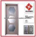 2014 nueva puerta de cristal interior de madera del pvc
