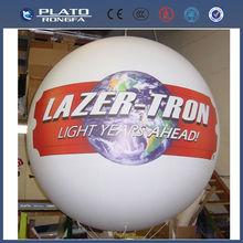 Grande de pvc de promoción bola inflable gigante, globos del desfile