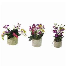 nueva llegada de la cinta arreglos de flores artificiales en el florero