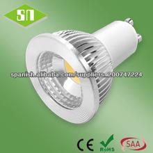 CE ROHS SAA aprobado regulable 5w cob luz LED GU10 lámpara