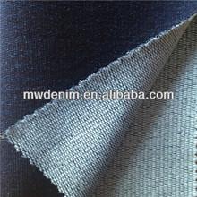 2014 nuevos pantalones vaqueros de tela de mezclilla de punto hecho en China