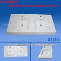 venda quente dupla integral de acrílico superfície sólida pia de cozinha