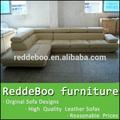 rústico forma mobiliário sofá de couro italiano