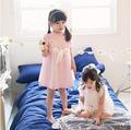 Grande de la marca puro encaje de algodón princesa de verano vestido de las niñas, vestido de los niños, niñas ropa,