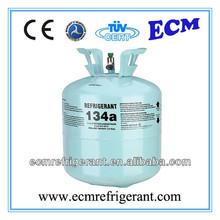 Gaz réfrigérant r134a bouteille de gaz voiture d'occasion et climatiseur. jetables en bouteilles et boîtes de petits