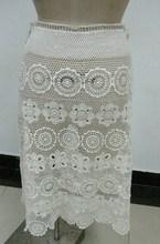 la señora del algodón del ganchillo del diseño de la señora de la falda corta
