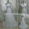 Jj2653 drop shipping um- a linha saia de tule baratos vestidos de noiva feitos na china