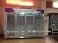 4 vertical porta de vidro freezer mostrar