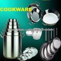 conjuntos de utensilios de cocina de acero inoxidable comercial capacidad de diverso tamaño