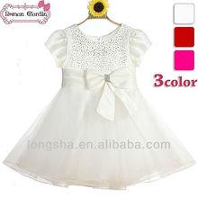 blanco de la boda vestido de los niños ropa de niña china al por mayor