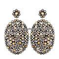 Aretes en Oro Amarillo de 14k y Plata Esterlina 925 Aretes con Diamantes Incrustados Joyeria con Piedras Preciosas