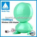 Tiny n83 nuevo 10 dbi estilo de dibujos animados usb wifi dongle; antena wifi