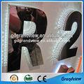 de acero inoxidable con retroiluminación led de metal de números y letras