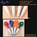 cinta métrica de plástico pluma 3 en 1 funciones pluma con el logo
