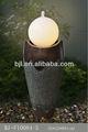 iluminación de decoración de la resina jardín fuente esfera
