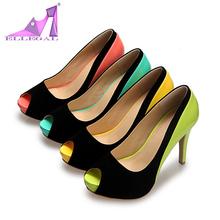 zapatos de mujer moda para patty tacon alto plataforma azul verde rosa amarillo