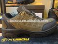 Kuadu marca de cuero auténtico anti- deslizamiento cómodo para caminar zapatillas de deporte para los hombres