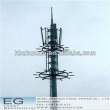 de acero octogonal de telecomunicaciones gsm 40 medidor de la torre