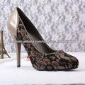 tela zapato de las mujeres de cuero