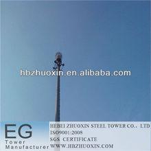 hebei zhuoxin de telecomunicaciones de acero galvanizado gsm monopolo del mástil