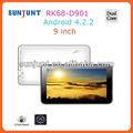 2014 La mayoría de los productos más populares de china 1024*600 hd 9in wifi tablet pc rk3168 Tablet pc de montaje