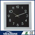 forma retangular relógio de parede