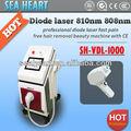 Retiro profesional del pelo del laser del diodo, máquina de depilación láser de diodo 808nm para permanentes todo tipo