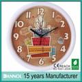 Reloj de pared de plástico de 10 pulgadas productos navideños