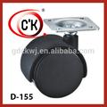 de nylon de oficina silla de ruedas de servicio pesado de la rueda de ricino 2 pulgadas de la rueda de ricino