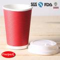 De papel tazas de café de china de papel corrugado taza