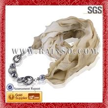 2014 nuevo de la moda de la joyería del grano con mantón bufanda de visualización