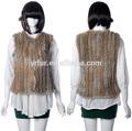 Yr-614 mulheres coelho malha fur vest/estilo comum/personalizado- feito