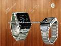 2013 acero resistente al agua teléfono móvil del reloj W818, color plata con precio de fábrica