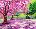 Pintura de acrílico abstracto- simple aceite de diseños de la pintura