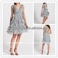 Hermosas chicas con gradas de gasa vestido de pétalos, el último vestido fotos diseños( ydq03274)