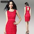 L'arrivée de nouveaux dorisqueen fashional pour les filles robes de soirée rouge 12 ans