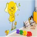 decoração da parede stikcer relógio de parede para quarto de crianças