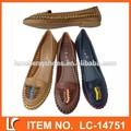 el diseño único de la mano trenza plana zapatos ocasionales