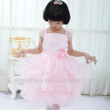 2013 nuevas de la manera del organza vestidos de princesa hinchados de fiesta para los niños
