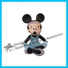 material pvc e plástico quente mickey mouse figura de ação