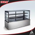 Luxo modelo de chão de mármore base vitrine de padaria/refrigerado vitrine de exibição/pão padaria exibição