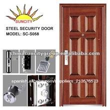 La belleza 6 panel de puerta de hierro forjado para la casa SC-S058