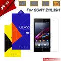 2.5d 9h milo teléfono celular/móvil de templado de vidrio protector de pantalla para sony z1/l39h