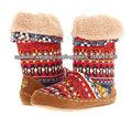Últimas mujer colorido botín tejer