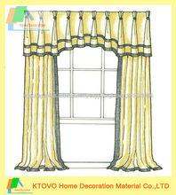 2014 venta caliente moderno casa de moda de la cortina con cenefa